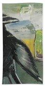 Crow Ruckus Beach Towel