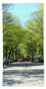 Crowded Spring Morning Beach Towel