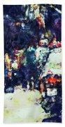 Crowded Street Beach Towel