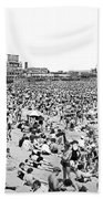 Crowds At Coney Island Beach Beach Towel