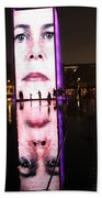 Crown Fountain Reflections Beach Towel