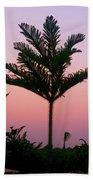 Crown In Pink Sky Beach Sheet