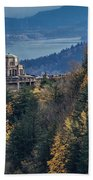 Crown Point In The Fall Beach Towel