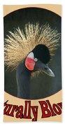 Crowned Crane - Naturally Blonde - Transparent Beach Towel