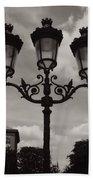 Crowned Luminaires In Paris Beach Towel