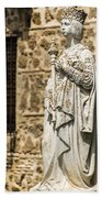 Crowned Statue - Toledo Spain Beach Towel
