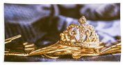 Crowned Tiara Jewellery Beach Towel