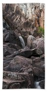 Crows Nest Falls During The Day. Beach Towel