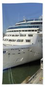 Cruise Ship At Canada Place Beach Towel