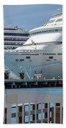 Cruise Ship Trio Beach Towel