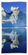 Cruising Between The Icebergs, Greenland Beach Towel