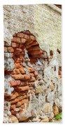 Crumbling Wall Beach Towel