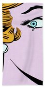 Crying Girl Beach Towel