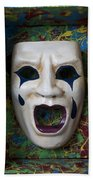 Crying Mask In Box Beach Towel by Garry Gay