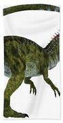 Cryolophosaurus Dinosaur Tail Beach Towel