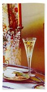 Crystal And Champagne Beach Towel