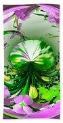Crystal Ball Flower Garden Beach Towel