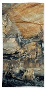 Crystal Cave Marble Formations Portrait Beach Towel
