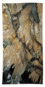 Crystal Cave Wall Formations Beach Towel