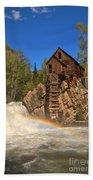 Crystal Mill Rainbow Portrait Beach Towel