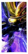 Crystalized Ecstasy Abstract  Beach Towel