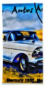 Cuba Antique Auto 1957 Mercury Monterrey Beach Towel