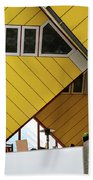 Cube Houses Detail In Rotterdam Beach Towel