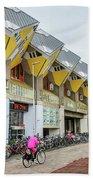Cube Houses In Rotterdam Beach Towel