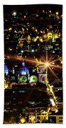 Cuenca's Historic District At Night Beach Towel