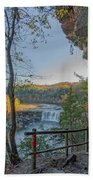 Cumberland Falls Ky From Eagle Falls Trail Beach Towel