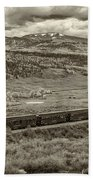 Cumbres Toltec Railroad Nm Sepia Dsc04065 Beach Towel
