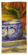 Cup And Fruit Beach Towel