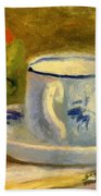 Cup And Oranges Beach Towel