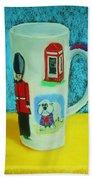 Cup Of London Java Beach Towel