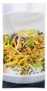 Curry Sauce Vegetable Salad With Noodles And Sesame Beach Towel