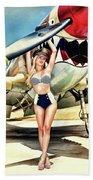 Curtis P-40 Warhawk Beach Towel