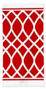 Curved Trellis With Border In Red Beach Towel