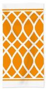 Curved Trellis With Border In Tangerine Beach Towel