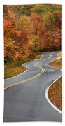 Curvy Road In The Mountains Beach Towel
