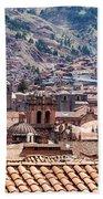 Cusco Cityscape Beach Towel