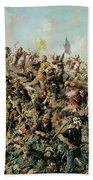 Custer's Last Stand Beach Towel by Edgar Samuel Paxson