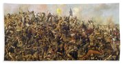 Custer's Last Stand From The Battle Of Little Bighorn Beach Towel