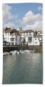 Custom House Quay And Falmouth Parish Church Beach Towel
