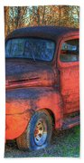 Customized Rust 1949 Ford Pickup Truck Beach Towel