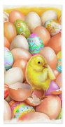 Cute Easter Chick Beach Towel