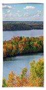 Cuyuna Country State Recreation Area - Autumn #1 Beach Sheet