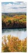 Cuyuna Country State Recreation Area - Autumn #2 Beach Sheet