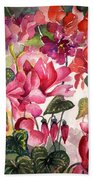 Cyclamen Beach Towel