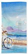 Cycling In Port De Pollenca In Majorca Beach Towel