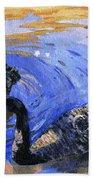 Cygnus Atratus Beach Towel